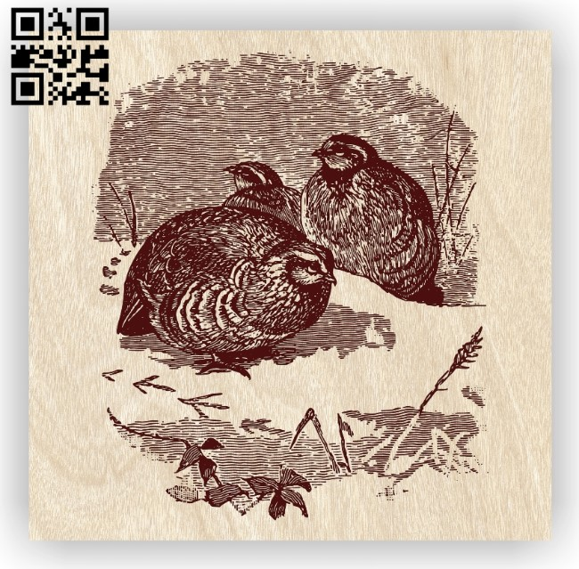 Birds with winter E0012469 file cdr and dxf free vector download for laser engraving machines