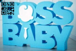 Boss baby E0012261 file cdr and dxf free vector download for laser cut
