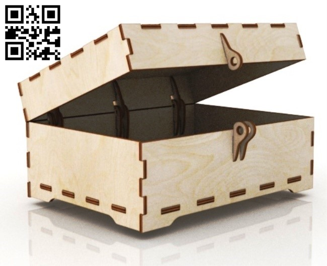 Box E0012416 file cdr and dxf free vector download for laser cut
