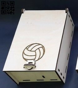 Box for a small bottle E0012497 file cdr and dxf free vector download for laser cut