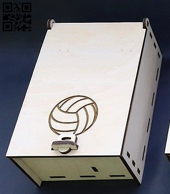 Box for a small bottle E0012497 file cdr and dxf free vector download for laser cut 1