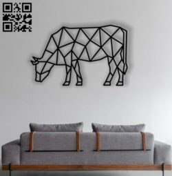 Bull Mural E0012448 file cdr and dxf free vector download for laser cut plasma