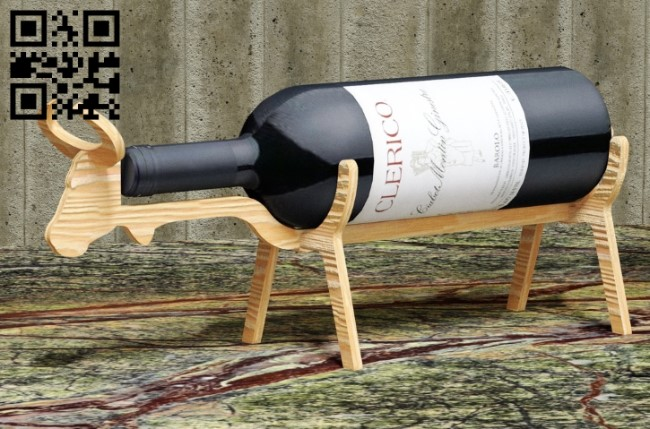 Bull bottle stand E0012411 file cdr and dxf free vector download for laser cut