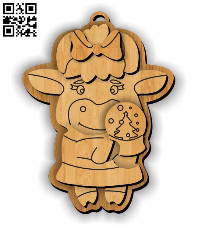 Bull keychain E0012343 file cdr and dxf free vector download for laser cut