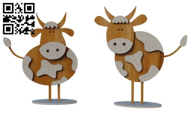 Bulls E0012345 file cdr and dxf free vector download for laser cut
