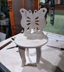 Butterfly stool E0012542 file cdr and dxf free vector download for laser cut