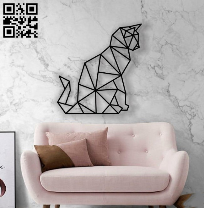Cat Mural E0012451 file cdr and dxf free vector download for laser cut plasma