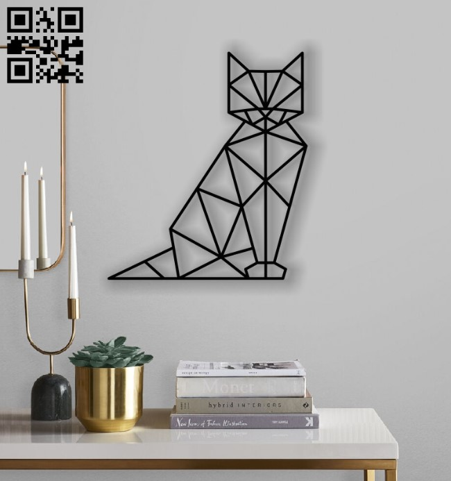Cat Mural E0012452 file cdr and dxf free vector download for laser cut plasma