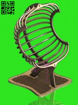 Chair E0012557 file cdr and dxf free vector download for laser cut