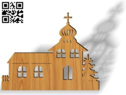 Christmas Church E0012283 file cdr and dxf free vector download for laser cut