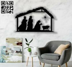 Christmas God E0012337 file cdr and dxf free vector download for laser engraving machines