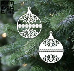 Christmas balls E0012378 file cdr and dxf free vector download for laser cut