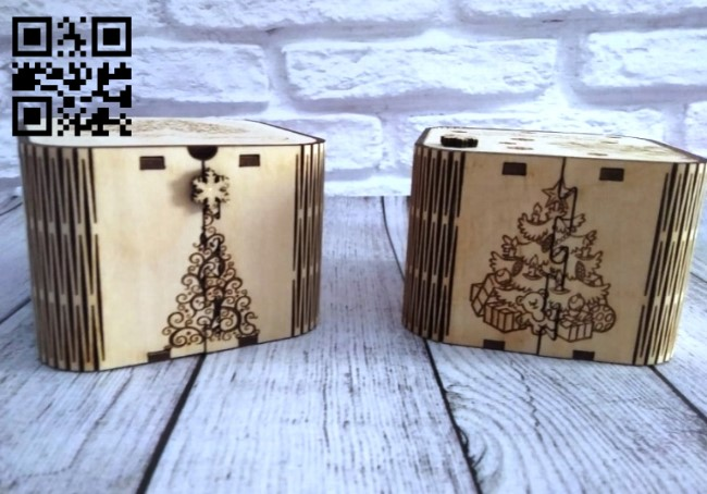 Christmas box E0012265 file cdr and dxf free vector download for laser cut