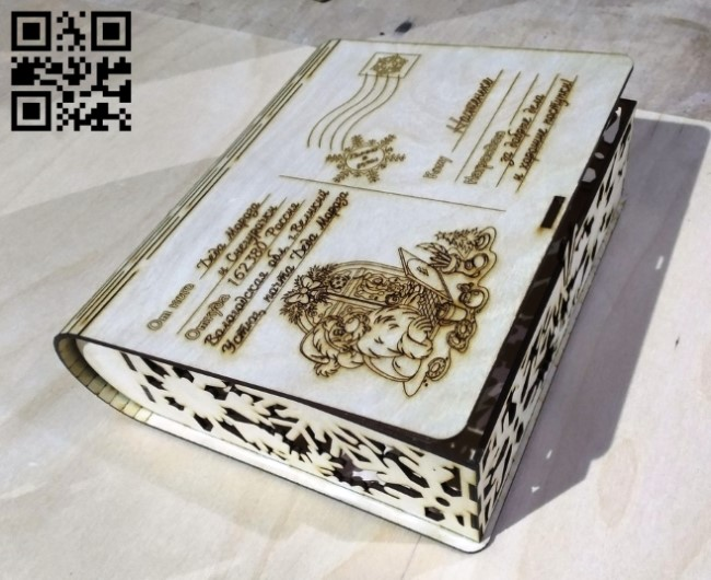 Christmas box E0012491 file cdr and dxf free vector download for laser cut