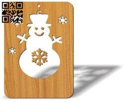Christmas card E0012487 file cdr and dxf free vector download for laser cut