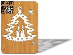 Christmas card E0012488 file cdr and dxf free vector download for laser cut