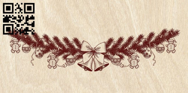 Christmas decorations E0012298 file cdr and dxf free vector download for laser engraving machines