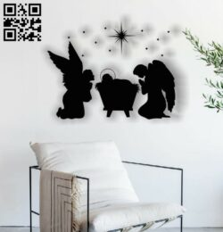 Christmas picture E0012341 file cdr and dxf free vector download for laser engraving machines
