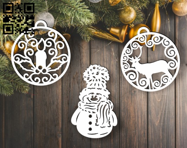Christmas toys E0012383 file cdr and dxf free vector download for laser cut