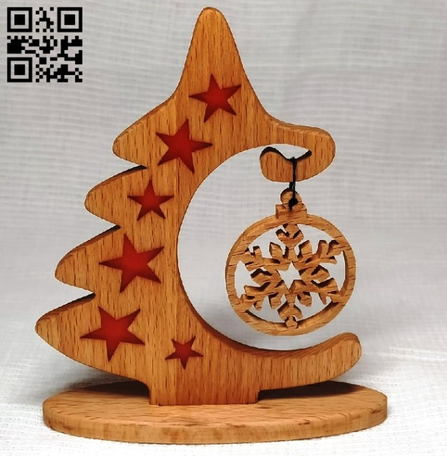 Christmas tree E0012356 file cdr and dxf free vector download for laser cut
