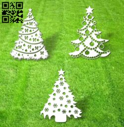 Christmas tree E0012430 file cdr and dxf free vector download for laser cut