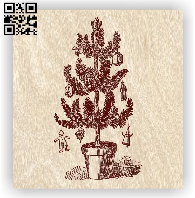 Christmas tree E0012470 file cdr and dxf free vector download for laser engraving machines