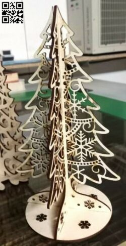 Christmas tree E0012513 file cdr and dxf free vector download for laser cut