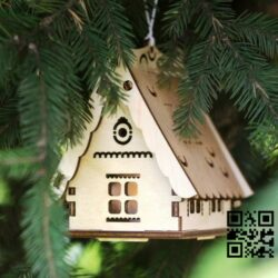 Christmas tree decoration lights E0012269 file cdr and dxf free vector download for laser cut