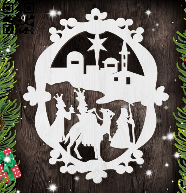 Christmas tree decoration toy E0012440 file cdr and dxf free vector download for laser cut