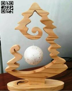 Christmas tree with balls E0012329 file cdr and dxf free vector download for Laser cut