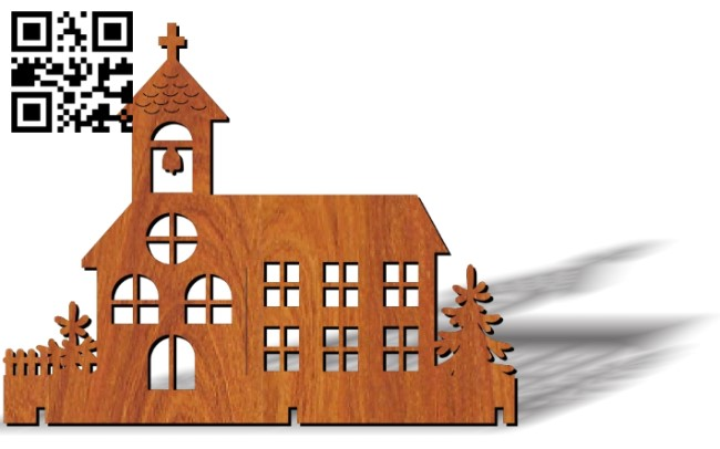 Church E0012282 file cdr and dxf free vector download for laser cut