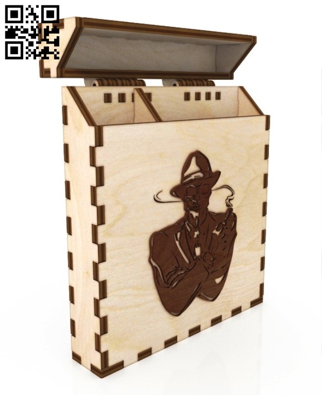 Cigarette case E0012419 file cdr and dxf free vector download for laser cut