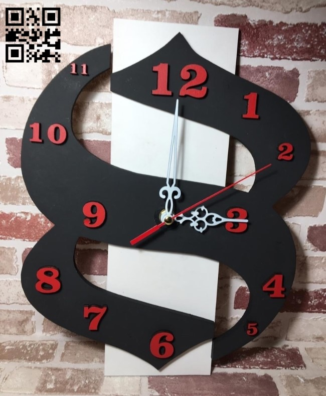 Clock E0012253 file cdr and dxf free vector download for laser cut