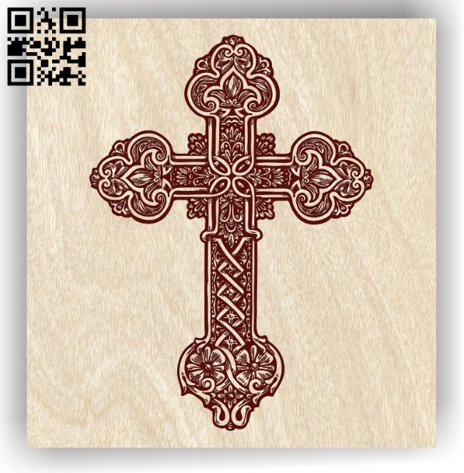 Cross E0012551 file cdr and dxf free vector download for laser engraving machines