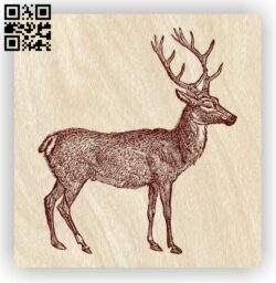 Deer E0012372 file cdr and dxf free vector download for laser engraving machines