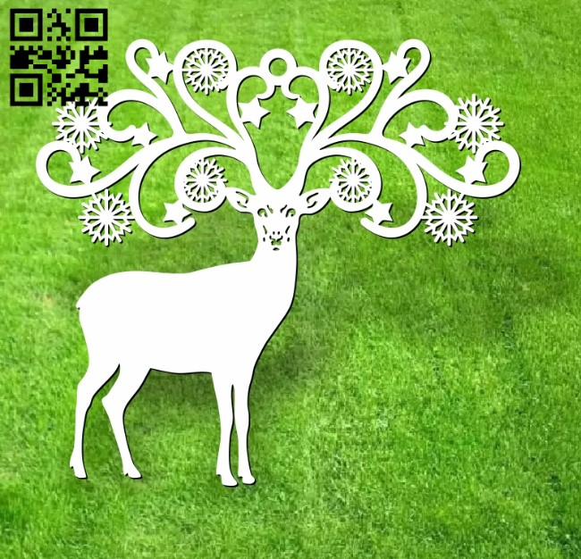 Deer E0012523 file cdr and dxf free vector download for laser cut