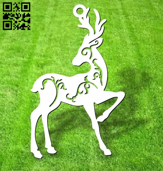 Deer E0012524 file cdr and dxf free vector download for laser cut