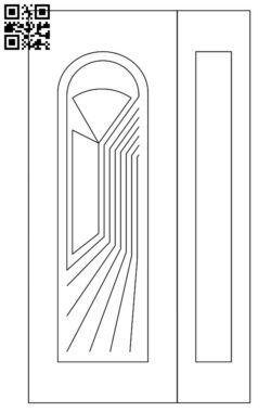 Design pattern door E0012284 file cdr and dxf free vector download for laser cut cnc