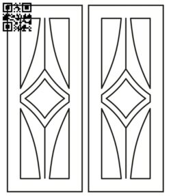 Design pattern door E0012285 file cdr and dxf free vector download for laser cut cnc