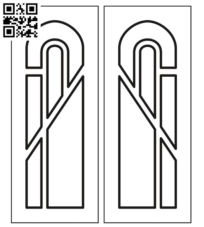 Design pattern door E0012286 file cdr and dxf free vector download for laser cut cnc