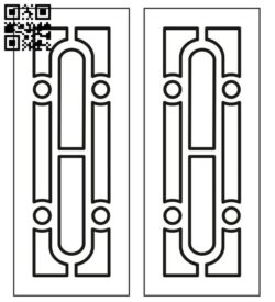 Design pattern door E0012287 file cdr and dxf free vector download for laser cut cnc