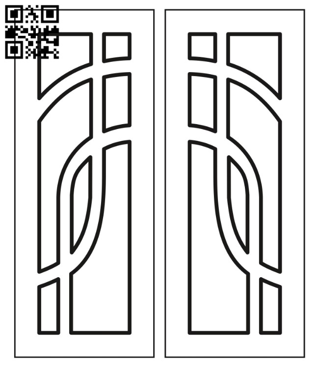 Design pattern door E0012288 file cdr and dxf free vector download for laser cut cnc