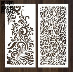 Design pattern screen panel E0012347 file cdr and dxf free vector download for laser cut cnc