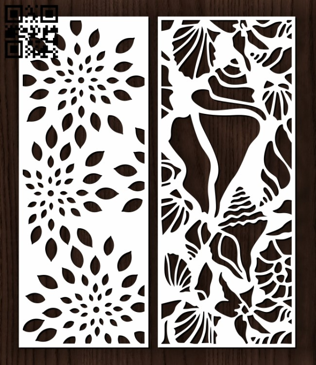 Design pattern screen panel E0012392 file cdr and dxf free vector download for laser cut cnc