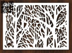 Design pattern screen panel E0012394 file cdr and dxf free vector download for laser cut cnc