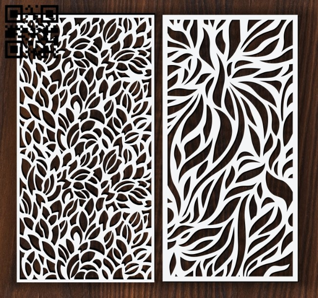 Design pattern screen panel E0012395 file cdr and dxf free vector download for laser cut cnc