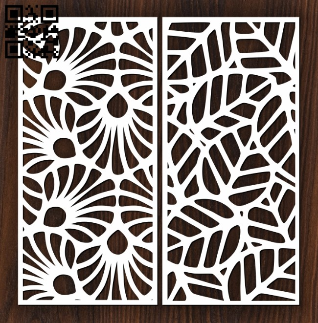 Design pattern screen panel E0012396 file cdr and dxf free vector download for laser cut cnc