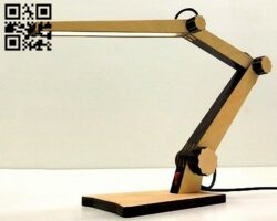 Desk lamp E0012527 file cdr and dxf free vector download for laser cut