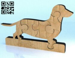 Dog puzzle E0012256 file cdr and dxf free vector download for laser cut