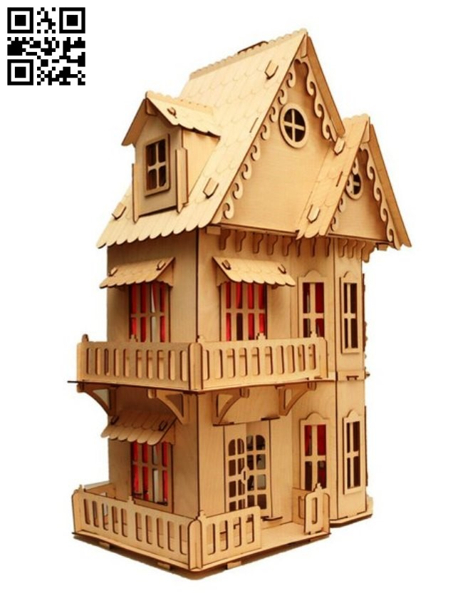 Doll house E0012401 file cdr and dxf free vector download for laser cut